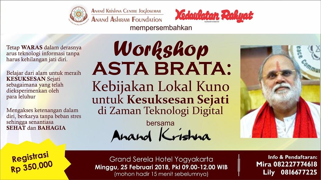 Workshop Kepemimpinan bersama Anand Krisna